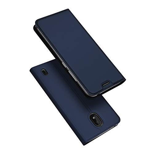 DUX DUCIS Cover Nokia 1 Plus, Flip Caso Pelle PU con [Funzione Stand] [Slot Cart] [Chiusura Magnetica] Bumper Casein Custodia per Nokia 1 Plus (Blu)
