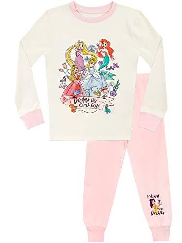 Disney Baumwollpyjama und T-Shirt mit vollen Ärmeln und bedrucktem Rapunzel, Aurora, Cinderella und Ariel für Mädchen 2-3 Jahre Multicoloured
