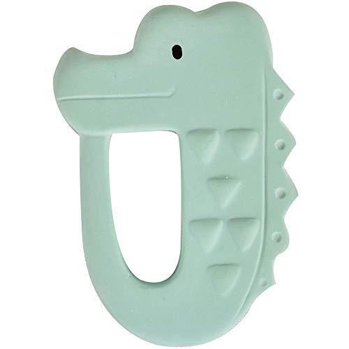 Tikiri 8591504 Kautschuk Beißring Krokodil, Zahnungshilfe aus Naturkautschuk, für Babys ab 0+ Monaten