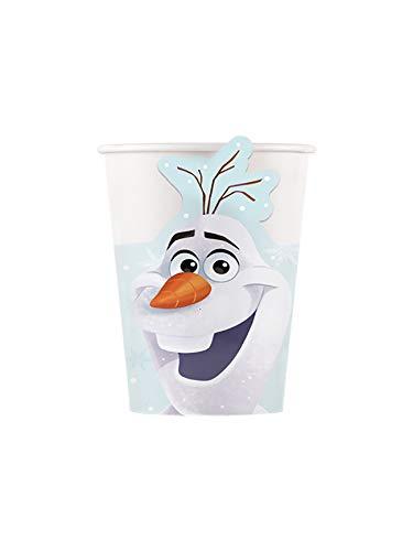 Procos- Confezione da 8 Bicchieri di Cartone con Olaf Christmas, Multicolore, PR86880
