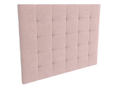 LA WEB DEL COLCHON - Cabecero tapizado Celio para Cama de 135 (145 x 120 cms) Rosa Palo Textil Suave
