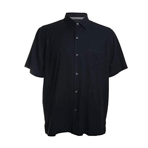 Tommy Bahama Men's Catalina Stretch Twill Camp Shirt (Black, XXL)