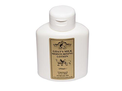 Lotion Hydratante Lait de Chèvre 150ml. Pour le psoriasis eczéma peau sèche Dermatite rosacée Sensible, fabriqué par Elegance Natural Skin Care en Grande-Bretagne