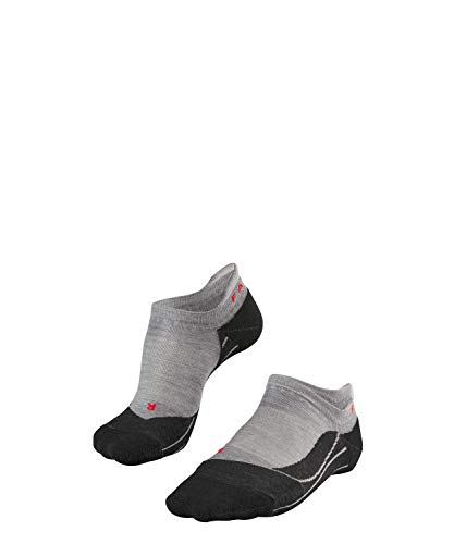 FALKE Damen, Wandersocken TK5 Invisible Merinowoll-/Baumwollmischung, 1 er Pack, Grau (Light Grey 3403), Größe: 35-36