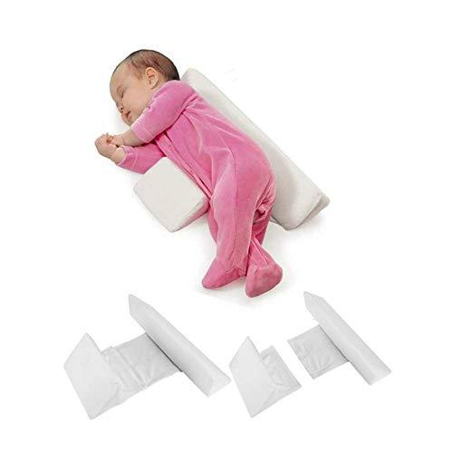 Seitenstützkissen für Babys,Abnehmbares herausnehmbares und waschbares,Anti-Rollover Seite Schlafkissen Dreieck Baby Lagerungskissen,zum Schlafen Tiefschlafen,Baby Junge/Mädchen universell,1pc(Weiß)