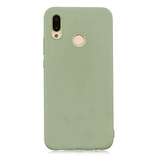 cuzz Funda para Huawei P20 Lite+{Protector de Pantalla de Vidrio Templado} Carcasa Silicona Suave Gel Rasguño y Resistente Teléfono Móvil Cover-Matcha