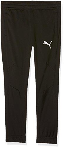 PUMA Kinder Liga Sideline Poly Pant Core Jr Hose, Black White, 152