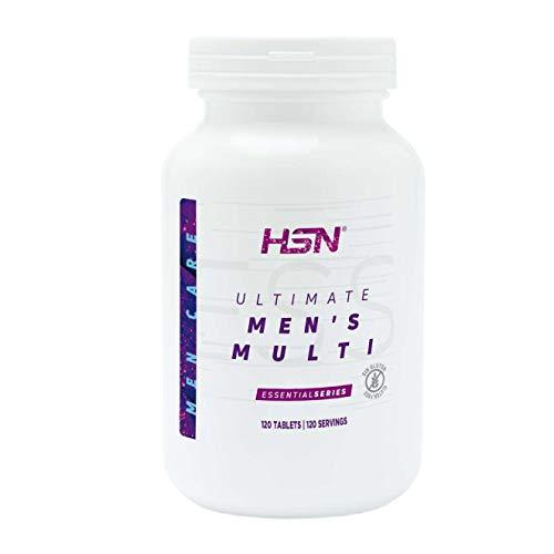 Multivitamínico para Hombres de HSN Ultimate Men's Multi | Complejo de Vitaminas y Minerales, Extractos Herbales | Sin Gluten, Sin Lactosa, 120 Tabletas