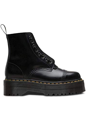 Dr. Martens Womens Sinclair Flatform Smooth Leather Ankle Closed Toe Boot - Black - 6