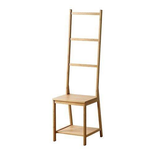 2 XIKEA RÅGRUND Stuhl mit Handtuchhalter aus Bambus