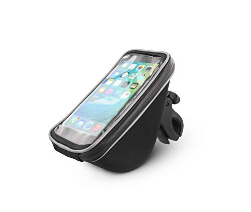 T'nB Urban Moov-SHalterung für Smartphone mit Aufbewahrung für Fahrrad und Scooter Unisex Erwachsene, Schwarz, Standard