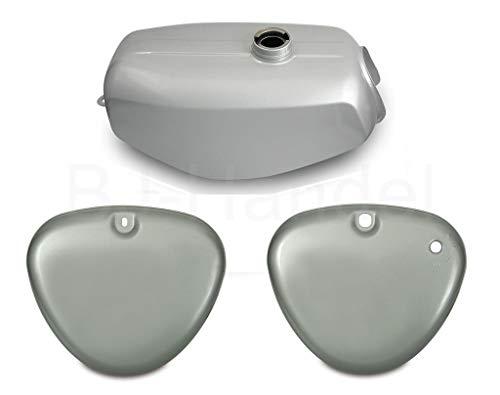 Tank Kraftstoffbehälter + Seitendeckel silber für Simson S50, S51, S60, S70