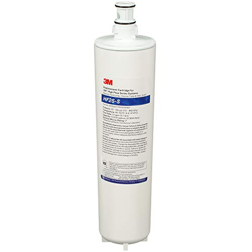 3M Water Filtration Products Replacement Cartridge for Commercial Ice Maker Machines HF25-S for High Flow Series ICE125-S, Reduces Sediment, Chlorine Taste and Odor, Inhibits Scale