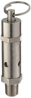 """Kingston 112CR Series Stainless Steel ASME-Code Safety Valve, 150 psi Set Pressure, 1/4"""" NPT Male by Kingston Valves"""