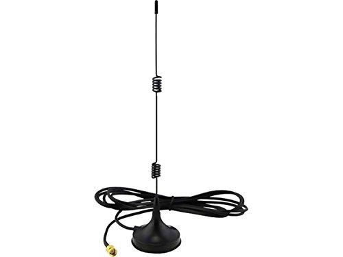 SpyCameraCCTV 7 dBi High Gain Omni Directional Antenne voor 2,4 GHz Draadloze CCTV, AV-zender of WiFi- inclusief Vrouwelijke SMA en M2M SMA Adapter