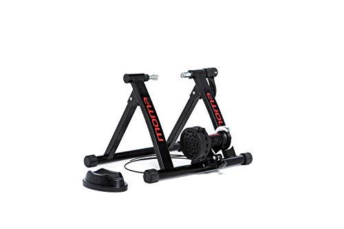 Moma Bikes, Home Trainer, 6 niveali, resistenza 500 W, compatto e pieghevole, ruota da 26 a 29', colore: nero normale