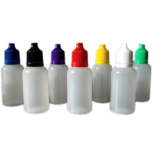 Nuluxi Tropfen Augentropfen Flasche Leere Kunststoff Squeezable Tropfflaschen Auge Flüssigkeit Tropfflaschen mit Kunststoff Abdeckung Stopper Abdichtung Leistung Besser 20 Stück(Zufällige Farbe)