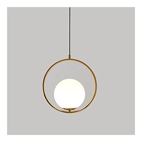 Lámparas De Araña, Iluminación De Techo, Chandelier De Cabeza Simple (E27) Adecuado Para Un Accesorio De Iluminación Moderno En La Sala De Estar, Comedor, Dormitorio, Pasillo (Color : Gold(11.8'))