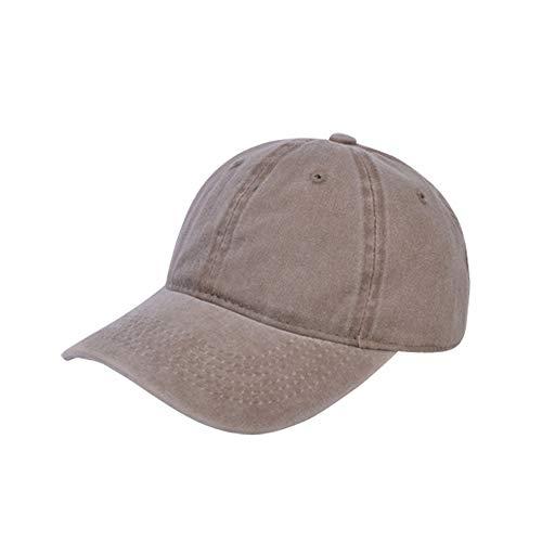 Sombrero Hembra Color sólido Gorra de béisbol Antigua recubierta de algodón Gorro de Lavado Visera Anti-Rotura Masculina Gorra doblada 卡其 色 可 调节