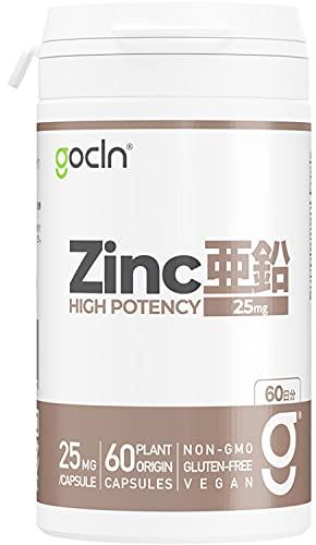 GoCLN 亜鉛 25mg 高配合 (60日分) Zinc High Potency 自然のチカラ 酵母由来
