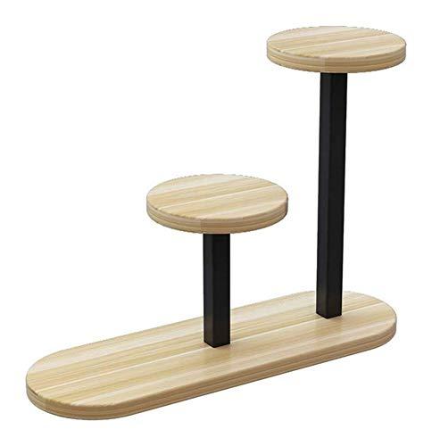 YLongFEI Bloemstandaard Opslagruimte Houten Bloempot Houder Mini Plant Stand Kruid Pottenrek Plank Hoek Rek Staand voor Balkon Huis Decoratie