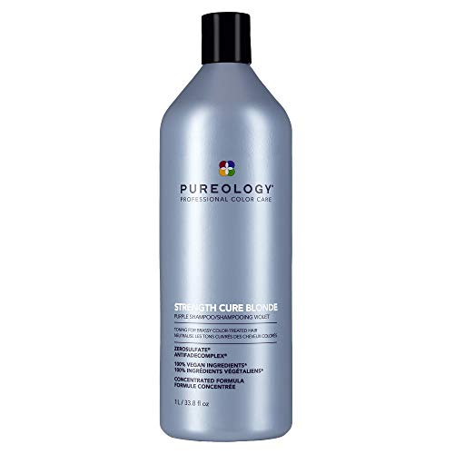 Pureology Strength Cure Blonde Purple Shampoo for Blonde & Lightened Color-Treated Hair, 33.8 Fl Oz