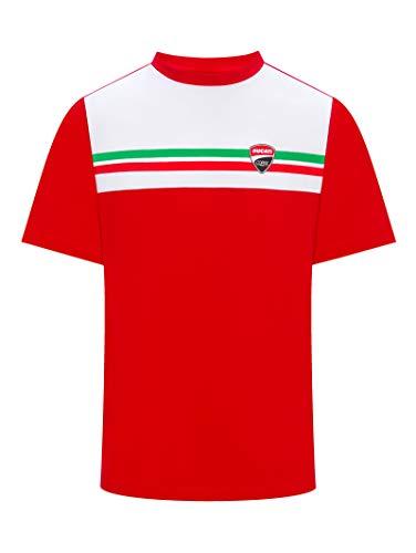 Ducati Corse T-Shirt ITALIENISCHE Flagge - rot - L