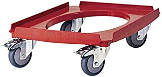 Cambro CD3253EPP158 Cam Dolly for Cam GoBoxes (550 lb. Load Capacity), Hot Red
