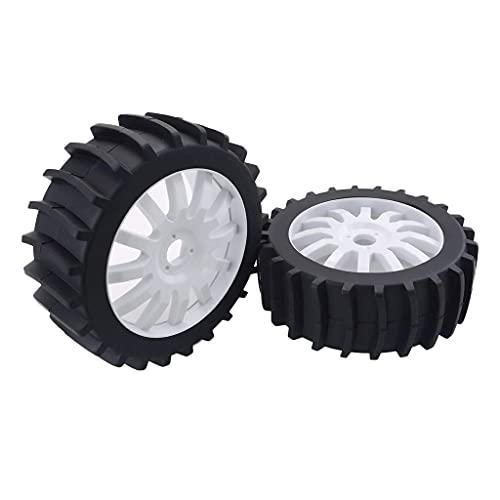 LIZONGFQ RC Buggy Rubber Tire RC 1: 8 Juego de neumáticos de llanta de Rueda de Coche Adecuado para Muchos Coches RC - Naranja, como se Describe ( Color : White , Size : As described )