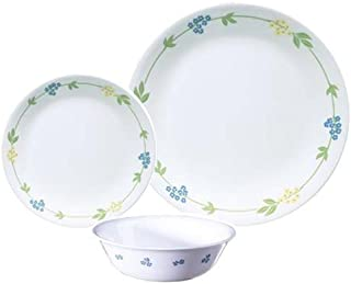 Corelle FBA_3965A Vitrelle Secret Garden 18 Pieces Dinnerware Set, Multi-Colour, Glass