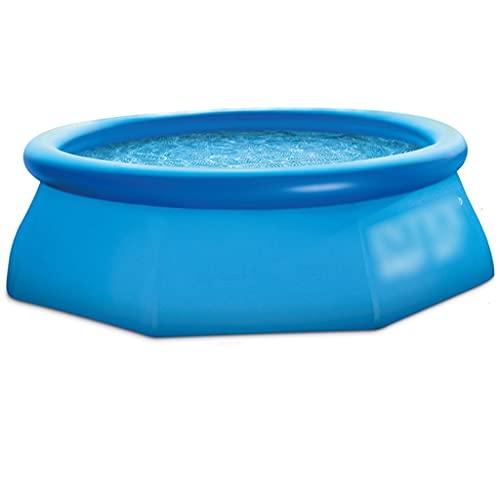 Piscinas Desmontables Piscina Hinchable Piscina con Bomba De Aire Puede Acomodar De 1 A 6 Personas Adecuado para La Familia, Al Aire Libre (Color : Blue, Size : 244 * 51cm)