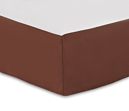 Deluxe Bed Skirt Dust Ruffle 2700 Series Soft Wrinkle, Fade and Stain Resistant,King, Brown