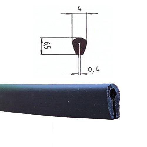 Protector de bordes Eutras KSO4004tira de refuerzo para bordes de 0,4–1,5mm,negro,3metros, Negro, 2044