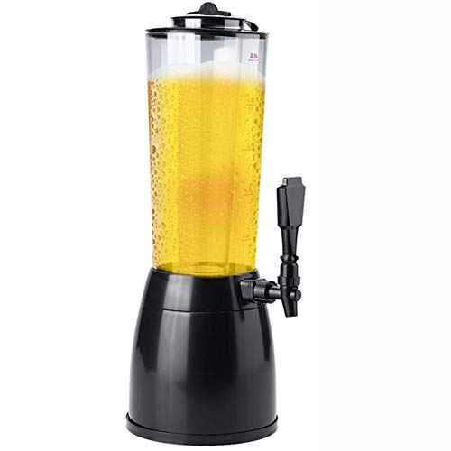 Dispensador De Cerveza, Dispensador De Bebidas De Cerveza De 2,5 Litros, Dispensador De Cerveza Para El Hogar, Dispensador De Agua Para Cerveza, Adecuado Para Dispensador De Cerveza Para Fiestas,Negro