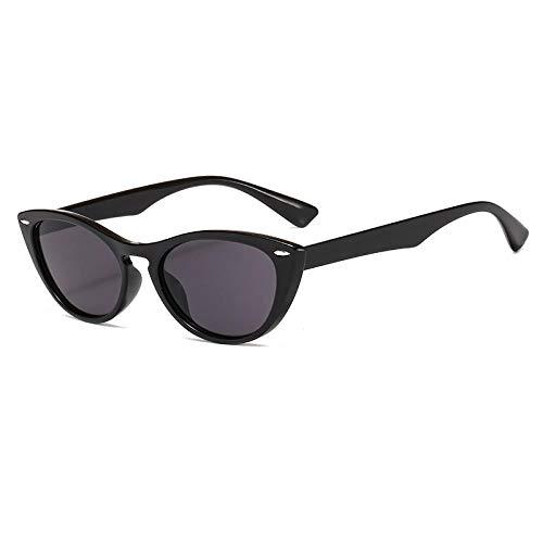 DLSM Gafas de Sol Gafas de Sol Gafas de Sol Retro Gafas de Sol para Mujeres adecuadas para Gafas de Sol de Pesca de Golf-Gris Negro