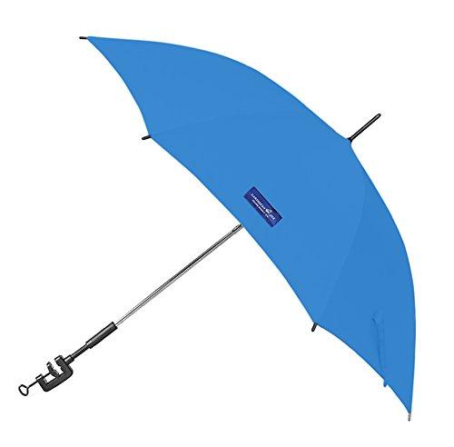 Caribbean Joe Clamp on Beach Umbrella with UV Protection, Blue, 48'