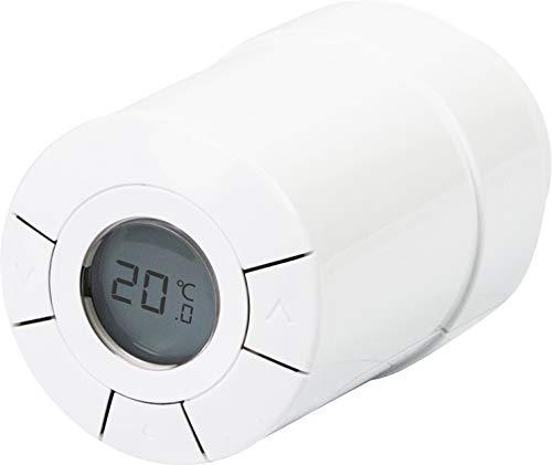 SCHWAIGER -ZHT01- Heizkörperthermostat/ Temperaturregler/ Erkennung offener Fenster/ Energiesparmodus/ Z-Wave/ Smart Home/ Steuerung per App/ Sprachsteuerung mit Alexa und Google