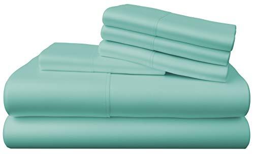 Bamboo Bay 6-Piece Bamboo Sheet Set (10 Colors) - Bamboo Sheets King Size - Soft, Breathable & Cooling 100% Viscose from Bamboo - Extra Deep Pocket,...