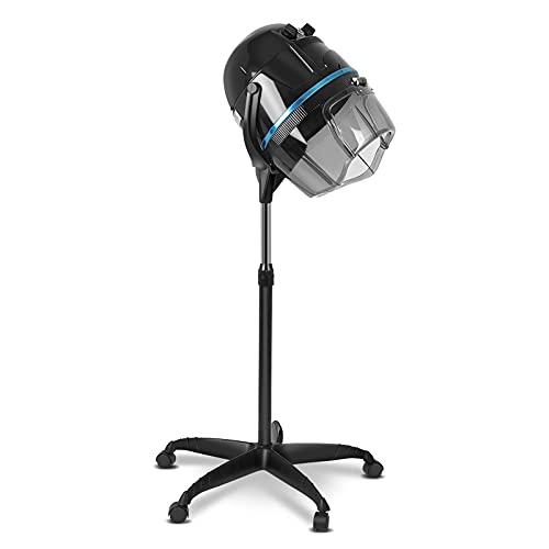 Asciugacapelli in piedi, Cappuccio per Asciugacapelli Professionale da Salone, Casco Asciugacapelli, Asciugacapelli con Rotelle con Timer e Temperatura Regolabile