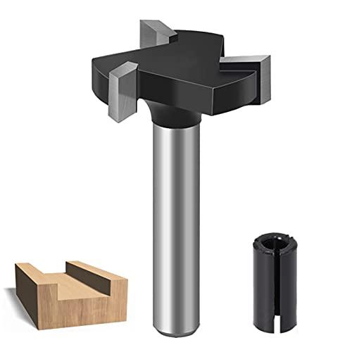 Fresadora de superficie CNC de 6 mm con vástago en forma de T para madera, herramienta de cepillado, fresadora con fresa