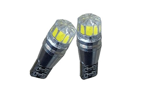 C63® Lot de 2 ampoules LED T10 W5 W sans erreur CANBUS pour feux de position Blanc xénon HID CREE 194