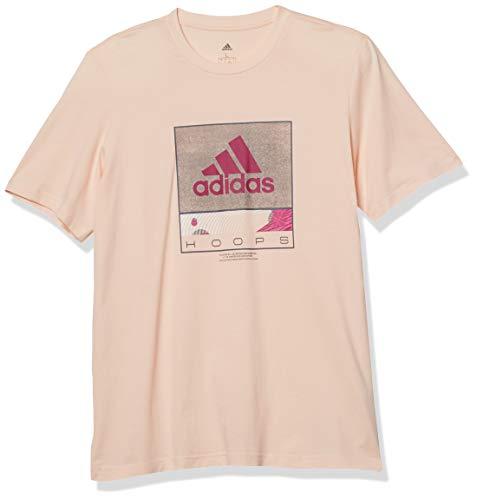 adidas Camiseta gráfica Future Hoops para Hombre, Color Rosa, Talla XS