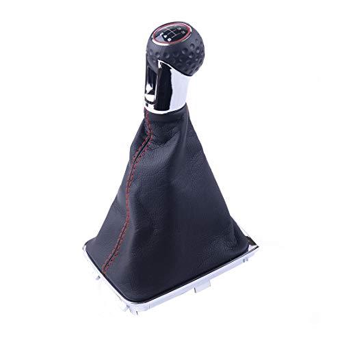 beler 6-Gang MT Handschaltknopf mit PU-Lederbezug für den Kofferraumdeckel