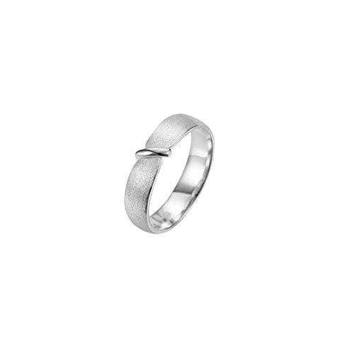 Aienid Edelstahl Ring zum Damen Schrubben Krawatte Gestalten Weiß Größe 54 (17.2)