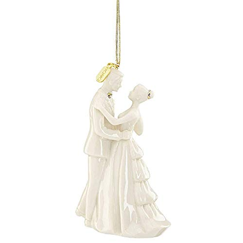 Lenox 2020 Bride & Groom Ornament, 0.45 LB, Ivory