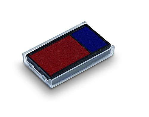 Trodat 6/4912/2 Stempelkissen Austauschkissen Ersatzkissen Farbe BLAU-ROT für Trodat Printy 4912, 4952, 4912 Typo, Office Printy