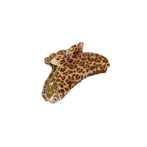 Ensemble de 3 mode léopard pince cheveux / accessoires cheveux, Kaki