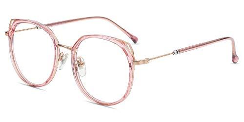 Firmoo Gafas Luz Azul para Mujer Hombre,Gafas Gaming Anti UV para PC, Móvil TV, Tablet Protección contra Luz Azul, S999 Morado Rosa
