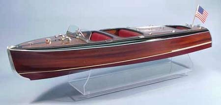 Dumas #1241 1938 Chris-Craft Triple Cockpit Barrel Back Model Boat KIT Scale 1:8