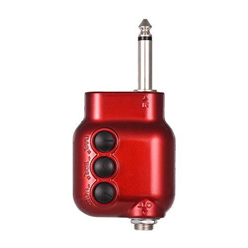 Muslady Mini Vorverstärker 6,35 mm Stecker mit Bass Treble EQ Volume Kontrolle für Akustische Gitarre